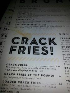 crack fries menu